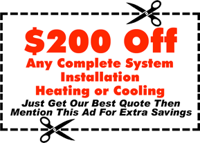 furnace or central air installation coupon York PA